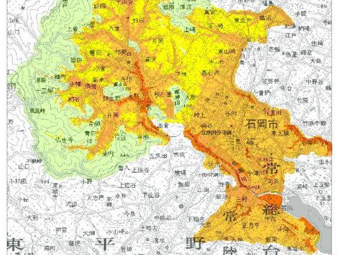 石岡市耐震マップ