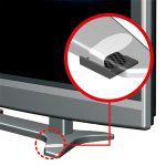テレビの脚にフィルムを巻いて固定/薄型テレビストッパー